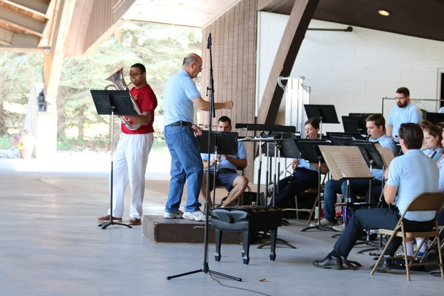 Artist Finalists Rehearse with Festival Band